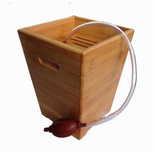 5Cgo【茗道】含稅會員有優惠 22570815376 茶水桶茶渣桶竹茶盤茶道配件垃圾桶 茶道配件-大號