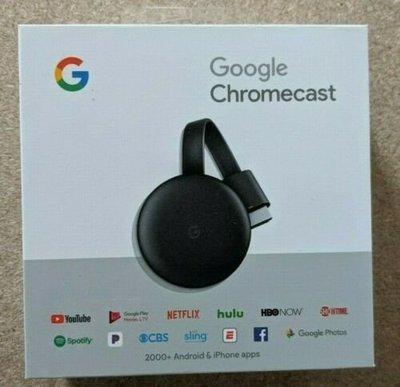 現貨~~全新原版正品 Google Chromecast V3 電視棒 HDMI
