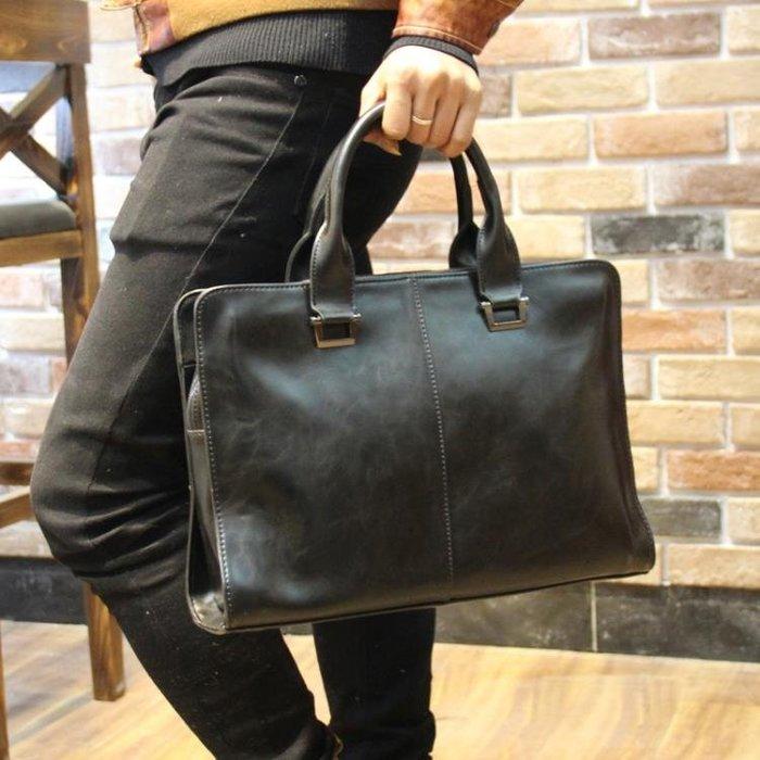 男包 定型商務包公文包男士手提包休閒男式皮包電腦包韓版背包