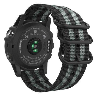 26mm佳明Garmin Fenix 3/3HR/5X/Descent MK1/D2 Charlie尼龍錶帶一元起標