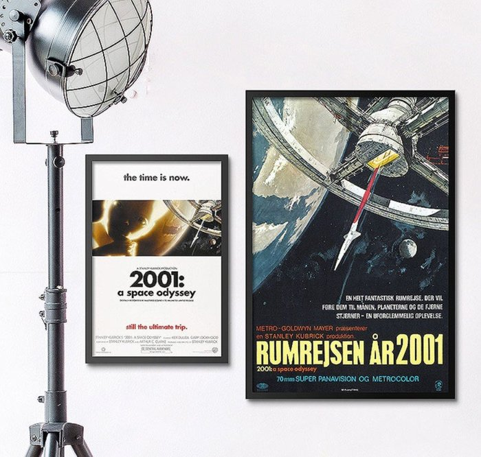 INHUASO 癮|画|所 2001太空漫遊A Space Odyssey經典科幻電影海報掛畫太空人裝飾畫電影版畫收藏畫