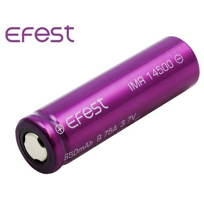 {MPower} Efest 14500 650mAh ( 9.75A ) 3.7V Rechargeable Battery 鋰電池 充電池 - 原裝正貨