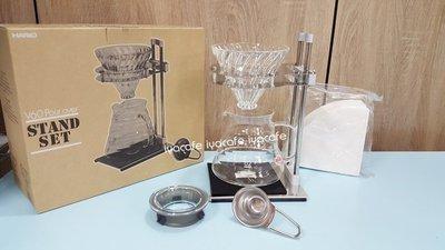 附發票-愛鴨咖啡-原廠公司貨HARIO VPOS-1506-SV 錐形玻璃濾杯+雲朵花茶壺 組合 2-4人份