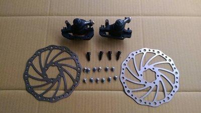 【馬上騎腳踏車】ASSESS機械碟組 登山車 小摺 小徑車可換裝
