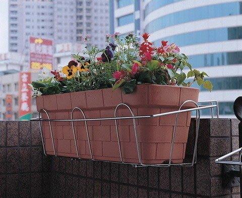 ☆成志金屬☆ #304不銹鋼S-62花架壁掛花台,吊掛花籃,放置長方花盆,材料實在純度可靠