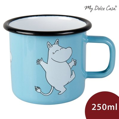 Muurla 嚕嚕米馬克杯 琺瑯杯 水杯 嚕嚕米 天空藍 250ml[MDW03]【限宅配】