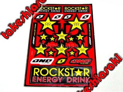 【高橋車部屋】中張彩貼 (D) 貼紙 機車 Monster 鬼爪 BWS 滑胎 越野 FOX ONE rockstar