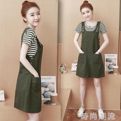 ZIHOPE 短袖套裝春夏天韓版流行氣質收腰顯瘦吊吊帶兩件套洋裝子女ZI812