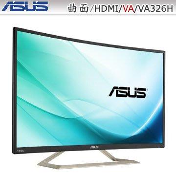 【捷修電腦。士林】ASUS 32型VA曲面電競螢幕(低藍光.不閃屏)VA326H