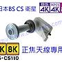 改裝正焦BS/ CS 4K8K LNB 日本最新規格左右旋...