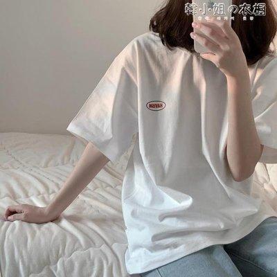 ZIHOPE 韓版寬鬆BF風百搭簡約少女半袖INS同款短袖T恤女上衣學生ZI812
