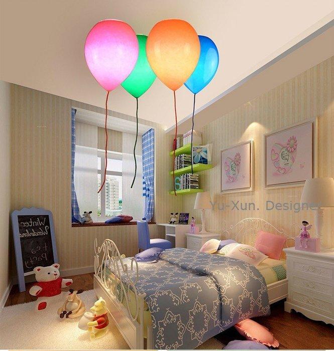 兒童房燈 氣球燈 直徑25公分 設計師款漂浮氣球吸頂燈 玻璃燈罩 LED 床頭燈 親子餐廳 民宿 主題餐廳§宥薰設計家