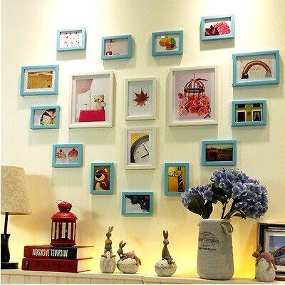 17框心形照片牆相框牆相片牆相框組合創意婚慶禮品