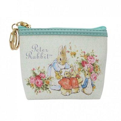 ~玫瑰物語~比得兔零錢包手拿巾仿皮PU粉紅色藍色班潔明彼得兔拉鍊式零錢包小包 包款跑兔Peter Rabbit