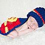 ♥萌妞朵朵♥新生兒寶寶可愛超人造型寶寶攝...