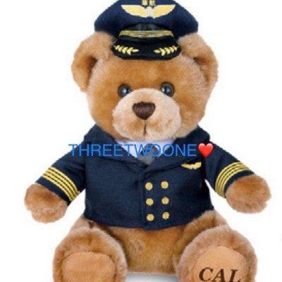 【全新】華航_機長小熊_A350聯名小熊_飛行小熊