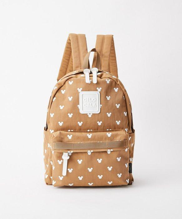 (現貨在台)日本正品Disney 迪士尼 CILOCALA 後背包 雙肩包 隨身包 旅行 米奇 Mickey 咖色 M號