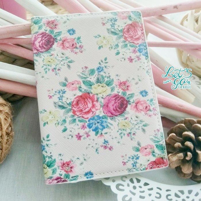 *護照套* 鄉村風PU皮復古玫瑰印花護照夾 ︵❉ 復古玫瑰。Let's Go lulu's。BC24