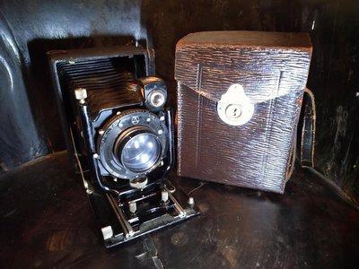 Ernemann cronos -c 古董中型軌道式毛玻璃蛇腹底片相機