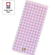 【莓莓小舖】正版 ♥ Sanrio 三麗鷗 長毛巾 KIKILALA雙子星 格子毛巾 今治 毛巾