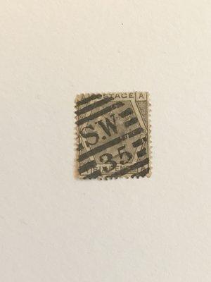 英國郵票(6)1873年發行維多利亞皇后