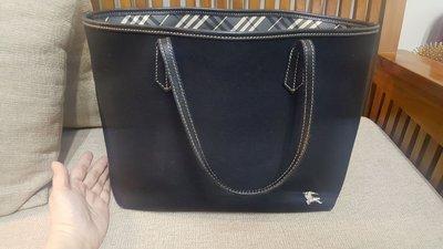 BURBERRY BLUE LABEL黑色OL包(A4公文托特包)