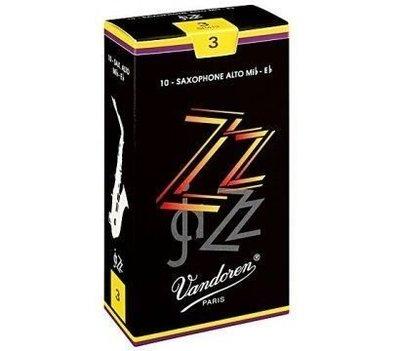 【非比藝術】【Vandoren ZZ Alto Reeds 薩克斯風 中音 ZZ 黑盒 竹片 10片裝】