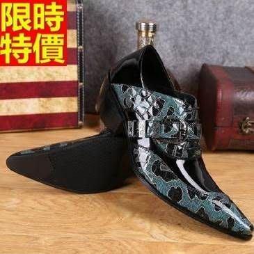 尖頭鞋 真皮皮鞋-潮流迷彩拼色個性增高男鞋子65ai27[獨家進口][米蘭精品]