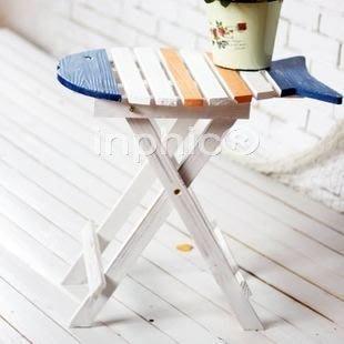 INPHIC-特價地中海風格魚形型 花架 電話桌 邊桌 雜誌架 小魚桌