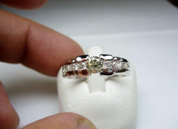 [吉宏精品交流中心]40分 南非天然鑽石 白K金 造型 戒指