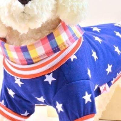 寵物衣 秋冬狗狗衣服-帥氣保暖星星襯衫寵物用品2色73ih37[獨家進口][米蘭精品]
