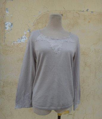 jacob00765100 ~ 正品 SINGLE NOBLE 獨身貴族 奶茶色 寬袖針織衫 size: 40