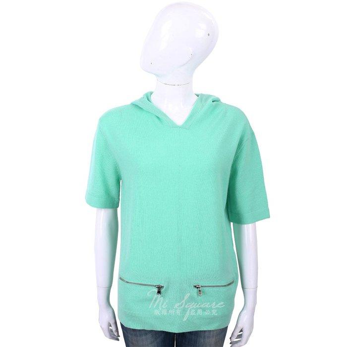 米蘭廣場 ALLUDE 喀什米爾綠色連帽羊毛針織衫 1740256-A1