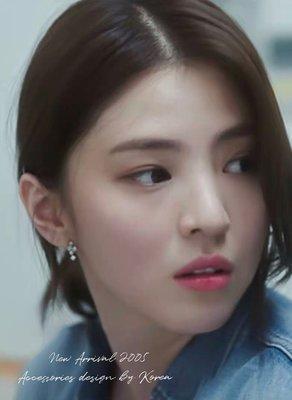 韓國連線《夫婦的世界》韓素希同款耳環 韓劇同款 呂多景純銀耳環 夫妻的世界