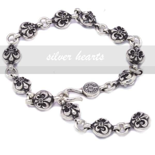 【SILVER HEARTS】Goro's Chrome Hearts 克羅心 BS Fleur Ball 純銀手環手鍊