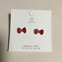 紅色蝴蝶結🎀耳環