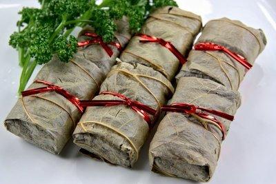 【下午茶系列】芋荷包(于荷包)10入(奶素)/約600g 荷葉包裹大甲芋頭內餡搭配香菇等調味料~蒸熟即可食用