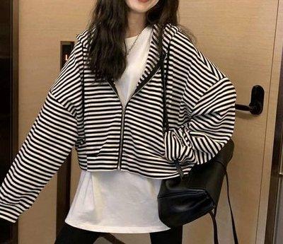 ☆Bubble Lady ☆ 【F513】 條紋連帽外套