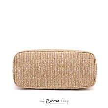 EmmaShop艾購物-夏季必備草編托特包/購物袋/草編包/海灘包