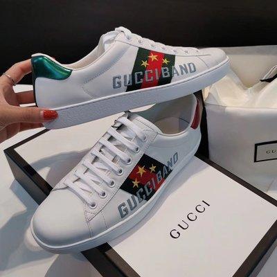 [4real]Gucci 字母刺繡 小白鞋
