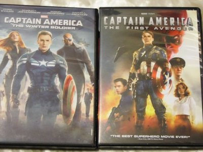 American Captain 1+2 美國隊長1、2集(酷寒戰士) 克里斯伊凡 史嘉莉喬韓森 山謬傑克森 勞勃瑞福
