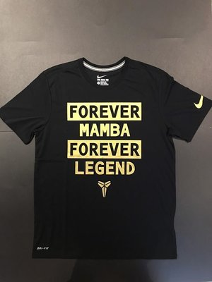 Nike Kobe FOREVER TEE 905643-010黑金短袖T恤排汗衫MAMBA LEGEND黑曼巴道FTB