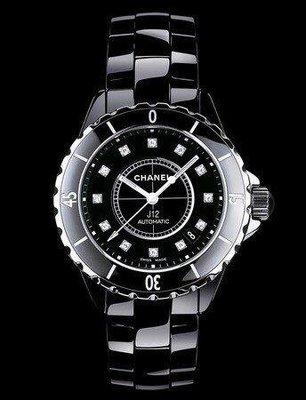 香奈兒 CHANEL J12 12顆美鑽 2019年 全新機械腕錶~2019 全新真品~現貨在台