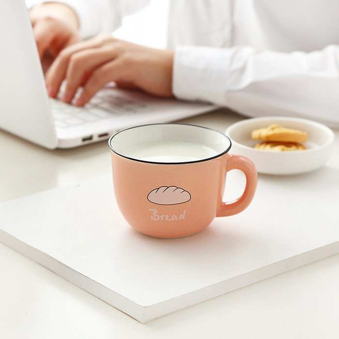 禧禧雜貨店-創意陶瓷杯情侶可愛馬克杯牛奶咖啡杯男女辦公室水杯瓷杯家用杯子#新款