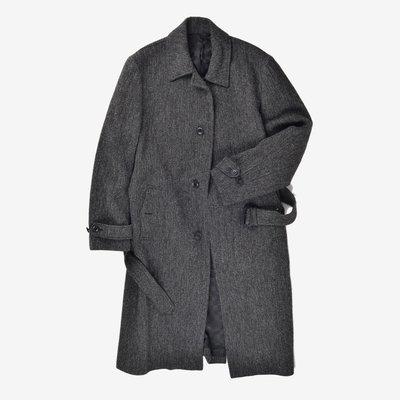 已售出 COMME CA DU MODE MEN Long Trench Coat  深灰 M 長版 大衣 口袋 腰帶