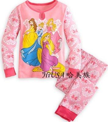 哈美族 美國 Disney 迪士尼 4位公主 純棉長袖 2件式 套裝/睡衣/家居服/冷氣衫 美規4