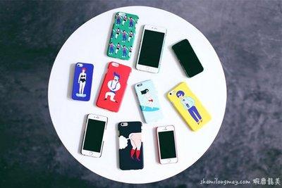 HAPPY+【PH523】獨創手繪插畫風 iPhone 5 5S 6 6S Plus 手機殼 保護套 文創 保護套 皮套