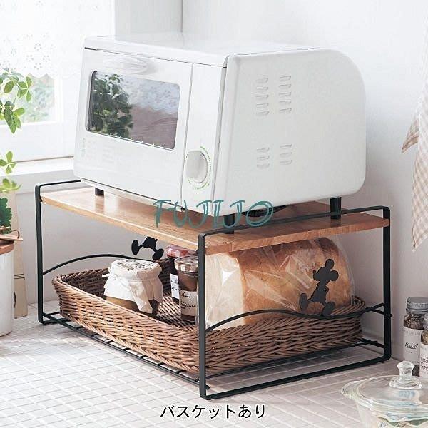 ~FUJIJO~日本存貨款~日本DISNEY迪士尼專賣限售【Mickey米奇】日本製 微波爐烤箱烤麵包機置物架2色
