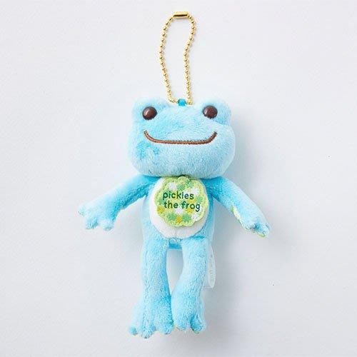 Pickles the Frog 青蛙 玩偶鑰匙圈吊飾 藍色 金平糖繡球花 日本
