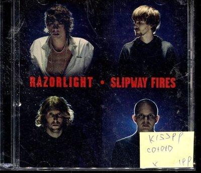 *真音樂* RAZORLIGHT / SLIPWAY FIRES CD+DVD 二手 K15399 (封面底破)
